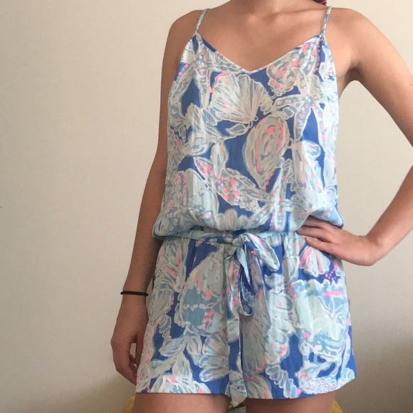 6a66bff5a6cd Lilly Pulitzer Other - Lilly Pulitzer Deanna Romper (Into the Deep)