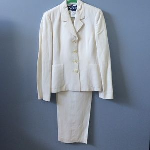 Petite Sophisticate Other - Winter White Linen Suit