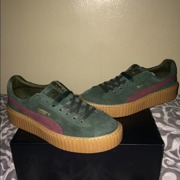 11 off puma shoes rihanna puma suede creepers green bordeaux gum from omar 39 s closet on. Black Bedroom Furniture Sets. Home Design Ideas