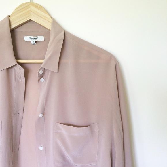 cd08535426ed2 Madewell Tops - Madewell silk blouse button down shirt