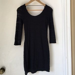 Cotton On Dresses & Skirts - Navy blue lace body con dress