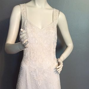 Vintage Mark and John silk beaded dress