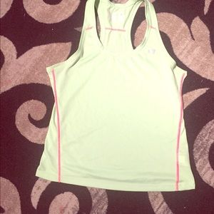 Lime green athletic tank top