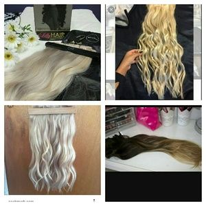 Other - ISO blonde hair extensions for trade.