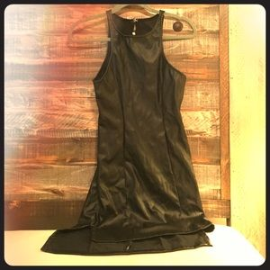 Black leather dress from Want my Look.
