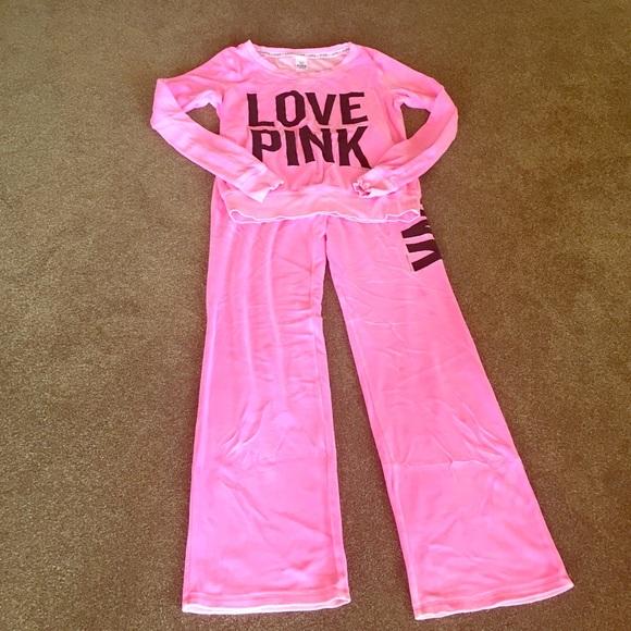 Pink Victoria S Secret Pants Pink By Victorias Secret Velour