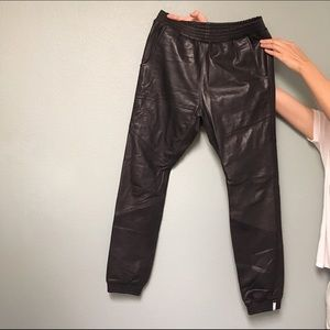 One Teaspoon leather trackies size 26