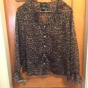 Cheetah print blouse size 10P