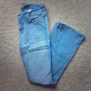 Paris Blues boot cut flared jeans. Juniors size 7.