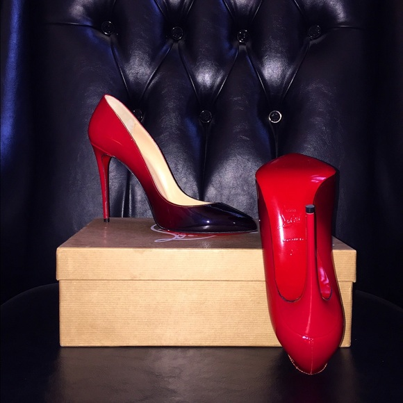 another chance e4edf b5fec AUTHENTIC Red & black faded Christian Louboutins NWT