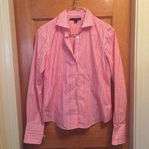 Pink striped button down size 10P