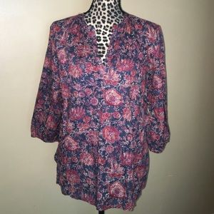 Chaps Tops - Chaps Patterned Top