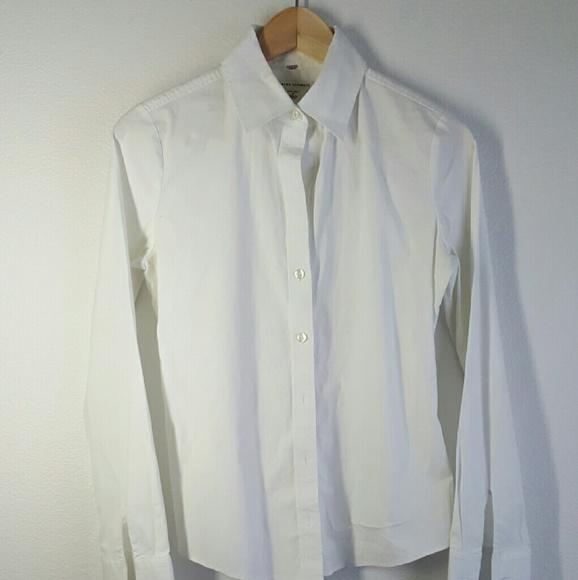 Banana Republic Tops Classy White French Cuff Shirt Women 4 Poshmark