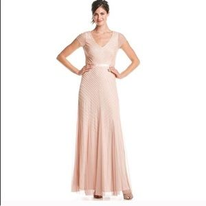 Adrianne Papell Beaded Dress in Blush