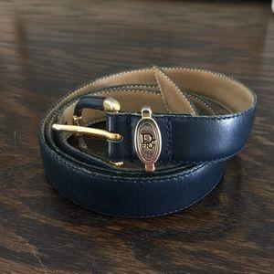 Christian Dior  Accessories - Vintage Christian Dior Navy belt