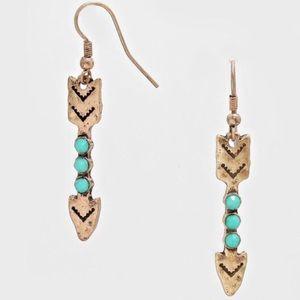 Farah Jewelry Jewelry - 2 LEFT- Tribal arrow drop earrings