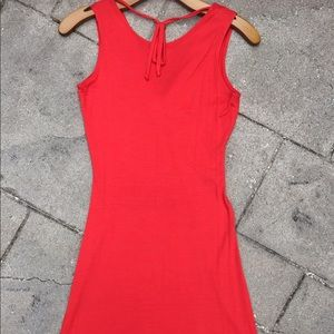 Motivi Dresses - Motivi mini orange dress; size XS