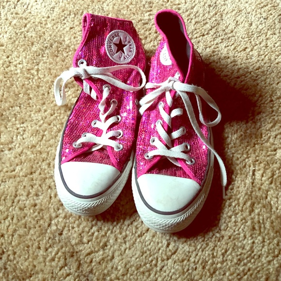 Converse Shoes - Sparkly hot pink men s 6 c458809319