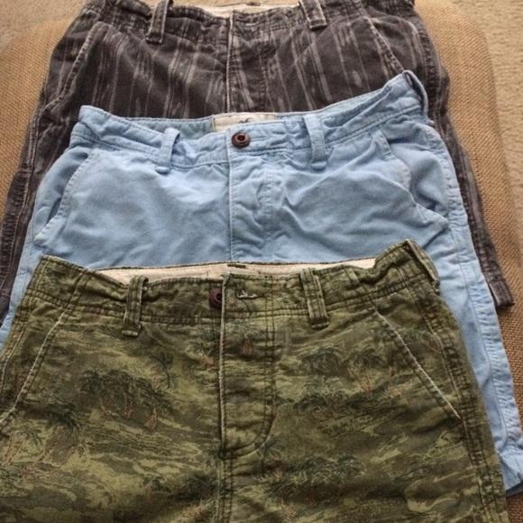 7ca0766016 Hollister Shorts | Bundle Of Mens Prep Fit Size 28 | Poshmark