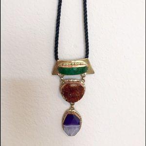 Three- stone Statement Necklace