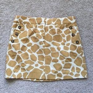 J. Crew Dresses & Skirts - NWT J Crew giraffe skirt size 2