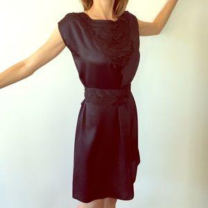Mango Dresses & Skirts - Navy blue Mango silk dress
