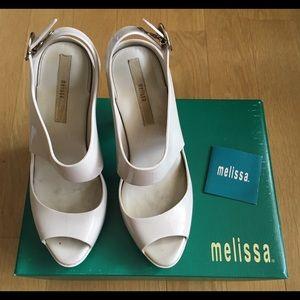 Melissa Shoes - Melissa Amazonas Beige Platform Sandals