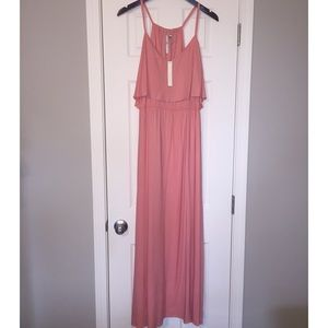 Lauren Conrad Peach Maxi Dress XL NWT