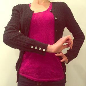 GAP Sweaters - GAP black cotton cardigan