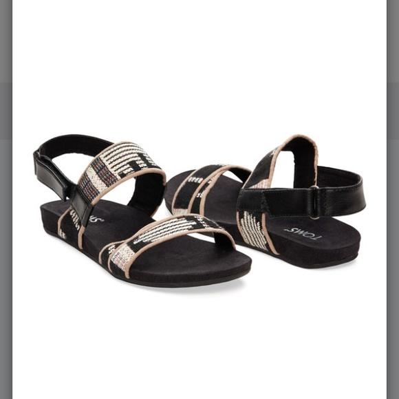 e6079d36c2b Toms Black Tribal Woven Sandal