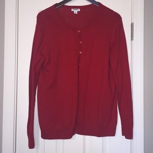 Old Navy Red Cardigan XL