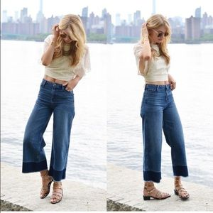 Perfect condition high waist Jean culottes
