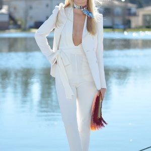 HOLD for petiteshopper77 white skinny jumpsuit
