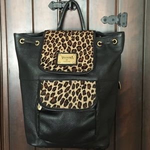 VALENTINA ITALIA Handbags - Reduced ‼️VALENTINA LEATHER BACKPACK PERFECT