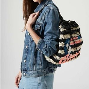 topshop straw backpack