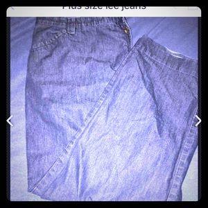 Plus size trouser jeans