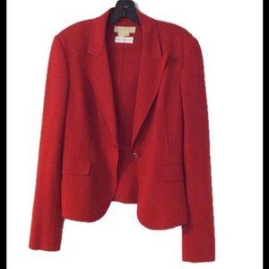 Michael Kors Jackets & Blazers - Michael Kors Collection Red Blazer NWOT