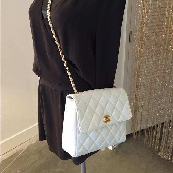 c56f2ac5bbb7d1 CHANEL Handbags - Auth CHANEL Jumbo Caviar Crossbody Shoulder Bag