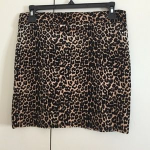 BNWOT Nasty Gal leopard mini skirt