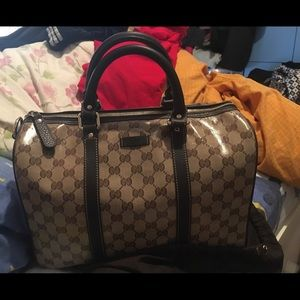 Auth Brand new GUCCI crystal Boston bag