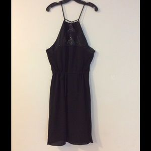Et Vous black silk cocktail dress