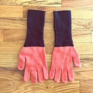 J. Crew Accessories - J Crew knit gloves - Navy and Coral