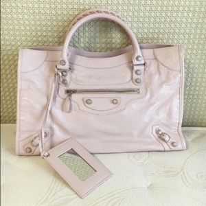 Balenciaga powder pink bag