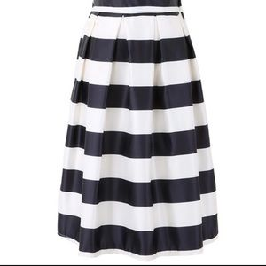 Black and white stripe stripes full circle skirt