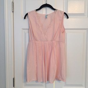 Anthropologie Tops - Anthropologie Pale Pink Blouse Small Excellent!