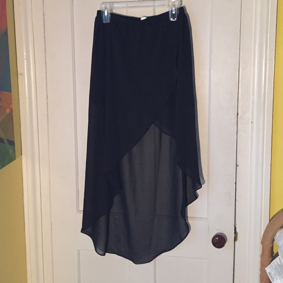 41 h m dresses skirts h m high low skirt sheer