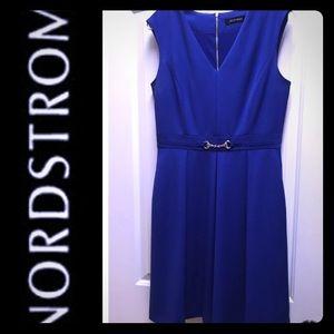 Ellen Tracy Blue Dress, 8 worn once