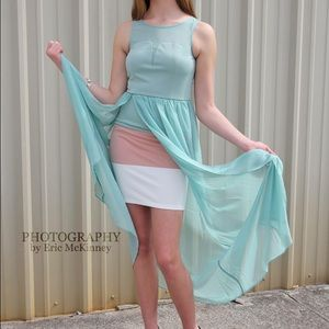 Mint Overlay Maxi Dress