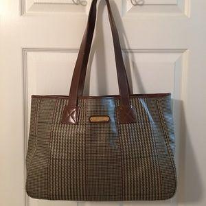 9f8d5a58dd0 Ralph Lauren Handbags - 🛍 Polo Ralph Lauren Houndstooth Tote Bag Leather