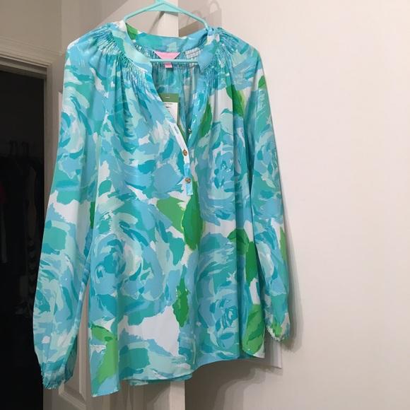 1a05d08eb1d84 Lilly Pulitzer Tops | Price Drop First Impressions Blue Elsa Top ...